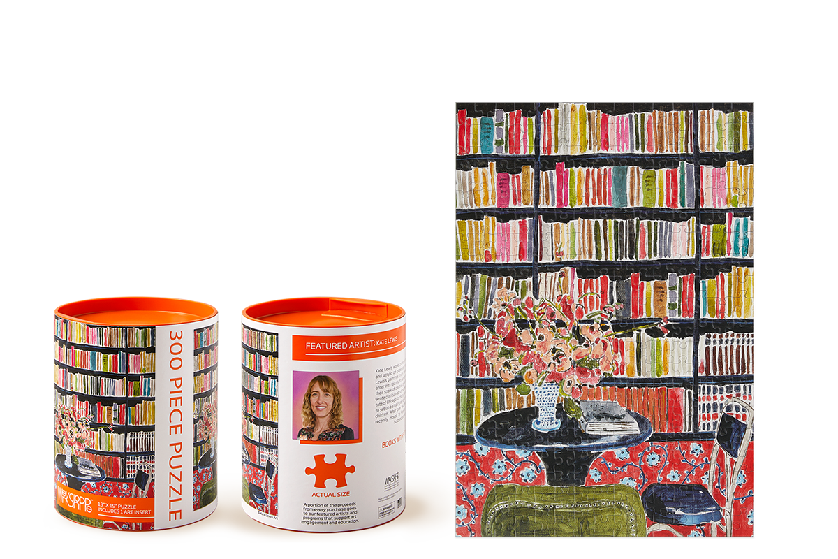 Books with Flowers 300 Piece Puzzle