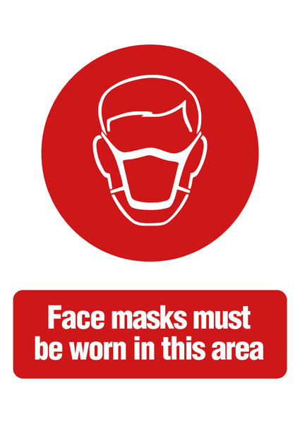 Protective Masks Must be Worn Sign
