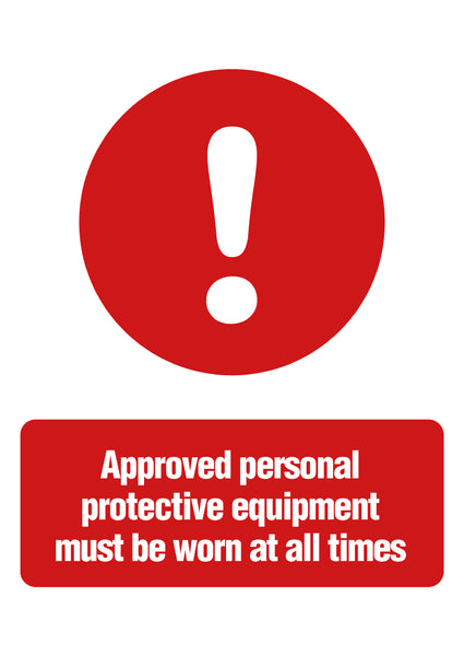 PPE Equipment Sign