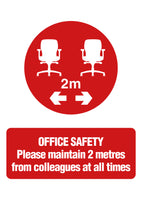 Office Safety 2m Sign