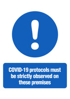 Covid-19 Protocols in Place Sign