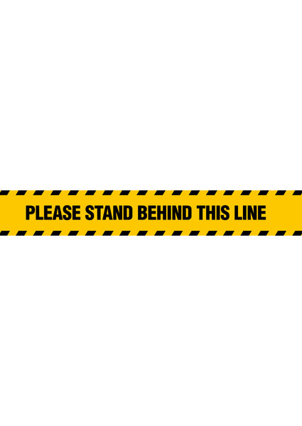 Stand Behind Line Floor Sticker