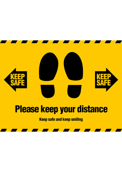Keep Your Distance (1m) Floor Sticker