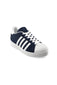 028514 Sneakers Color Marino Con Detalles Blanco