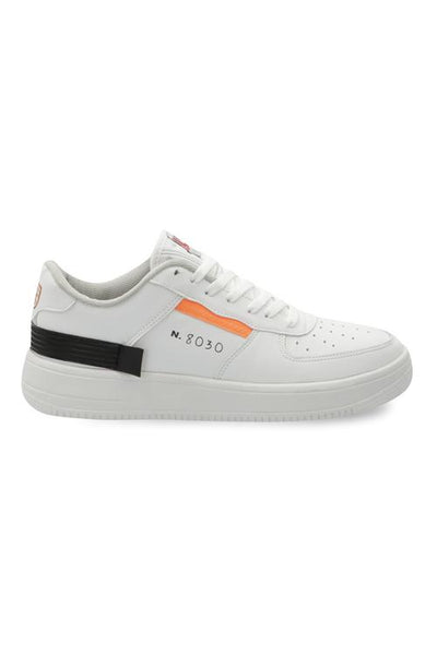 029450 Sneakers Suela Alta Con Agujetas  Color Blanco