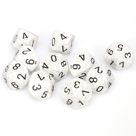 Chessex  25111 10 Sided Speckled Arctic Dice Set (10-Dice)