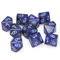 Chessex  25107 10 Sided Speckled Cobalt Dice Set (10-Dice)