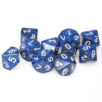 Chessex  25146 10 Sided Speckled Stealth Dice Set (10-Dice)