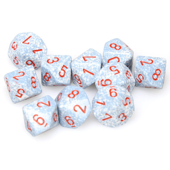 Chessex  25100 10 Sided Speckled Air Dice Set (10-Dice)
