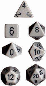 Chessex 25410 Dk.Grey/Black 7 die set