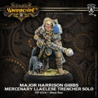 (WARMACHINE) Major Harrison Gibbs (Mercenaries) PIP41134