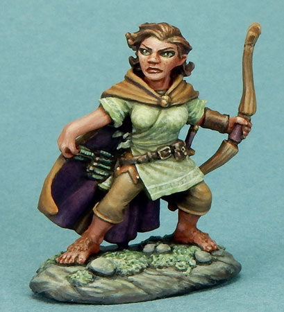 Visions in Fantasy: Female Halfling Ranger With Bow