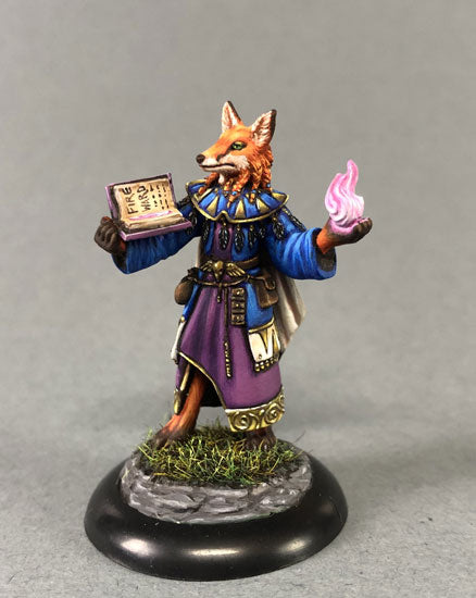Visions in Fantasy: Kitsune Mage With Spell Book
