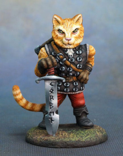 Visions in Fantasy: KORBEN - Large Cat Warrior With Sword