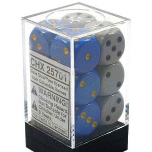 Chessex  25701 16MM OPAQUE DIXIE DICE 12CT