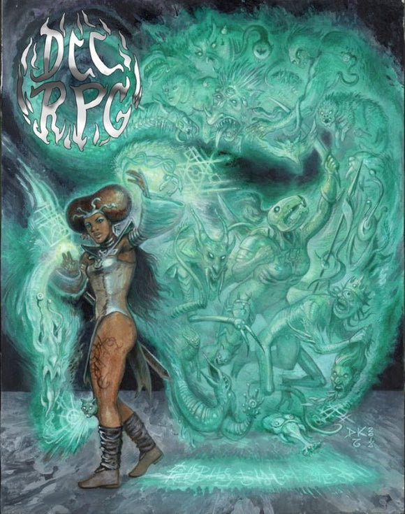 Dungeon Crawl Classics Role Playing Game – 7th Printing (Shanna Cover) (Hardcover)