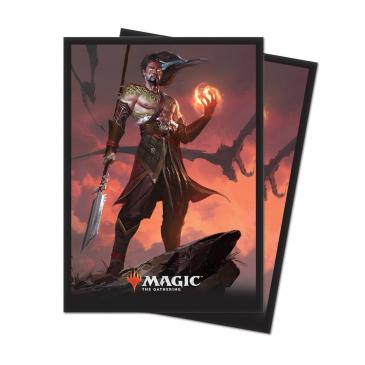M19 Deck Protector sleeves Sarkhan, Fireblood for Magic 80 count