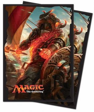 Magic: The Gathering - Rivals of Ixalan Angrath, The Flame-Chained Standard Deck Protector Sleeve (80 ct.)