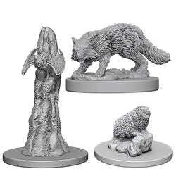 PATHFINDER: DEEP CUTS UNPAINTED MINIATURES - FAMILIARS