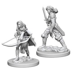 PATHFINDER: DEEP CUTS UNPAINTED MINIATURES - HUMAN FEMALE FIGHTER