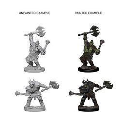 PATHFINDER: DEEP CUTS UNPAINTED MINIATURES - HALF-ORC MALE BARBARIAN