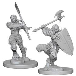 PATHFINDER: DEEP CUTS UNPAINTED MINIATURES - HALF-ORC FEMALE BARBARIAN