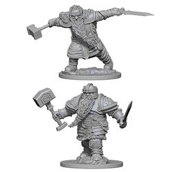 DUNGEONS AND DRAGONS: NOLZUR'S MARVELOUS UNPAINTED MINIATURES - DWARF MALE FIGHTER