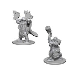 DUNGEONS AND DRAGONS: NOLZUR'S MARVELOUS UNPAINTED MINIATURES - DWARF MALE CLERIC