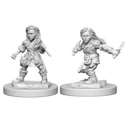 DUNGEONS AND DRAGONS: NOLZUR'S MARVELOUS UNPAINTED MINIATURES - HALFLING FEMALE ROGUE