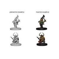 DUNGEONS AND DRAGONS: NOLZUR'S MARVELOUS UNPAINTED MINIATURES - DWARF FEMALE BARBARIAN
