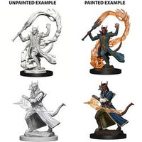 DUNGEONS AND DRAGONS: NOLZUR'S MARVELOUS UNPAINTED MINIATURES - TIEFLING MALE SORCERER
