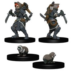 WARDLINGS: PRE-PAINTED MINIATURES - GIRL ROGUE AND BADGER