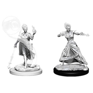 DUNGEONS AND DRAGONS: NOLZUR'S MARVELOUS UNPAINTED MINIATURES - FIRE GENASI FEMALE WIZARD