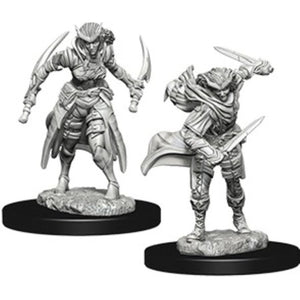 DUNGEONS AND DRAGONS: NOLZUR'S MARVELOUS UNPAINTED MINIATURES - TIEFLING FEMALE ROGUE