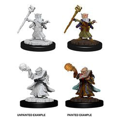 DUNGEONS AND DRAGONS: NOLZUR'S MARVELOUS UNPAINTED MINIATURES - MALE GNOME WIZARD