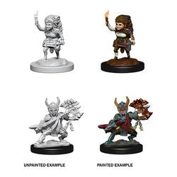 DUNGEONS AND DRAGONS: NOLZUR'S MARVELOUS UNPAINTED MINIATURES - FEMALE HALFLING FIGHTER