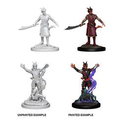 DUNGEONS AND DRAGONS: NOLZUR'S MARVELOUS UNPAINTED MINIATURES - MALE TIEFLING WARLOCK