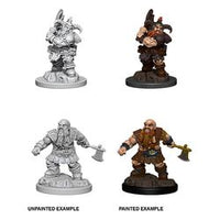 DUNGEONS AND DRAGONS: NOLZUR'S MARVELOUS UNPAINTED MINIATURES - MALE DWARF BARBARIAN