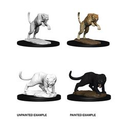 DUNGEONS AND DRAGONS: NOLZUR'S MARVELOUS UNPAINTED MINIATURES - PANTHER AND LEOPARD