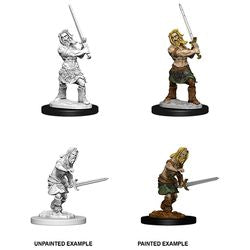 PATHFINDER: DEEP CUTS UNPAINTED MINIATURES - MALE HUMAN BARBARIAN