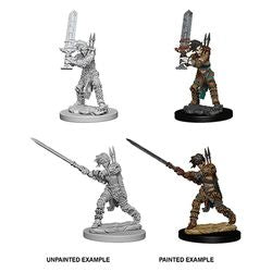 PATHFINDER: DEEP CUTS UNPAINTED MINIATURES - FEMALE HUMAN BARBARIAN