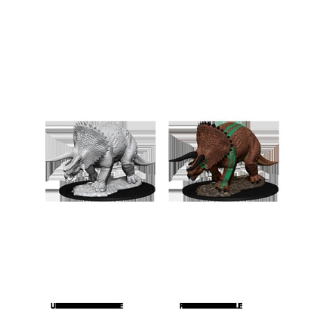 DUNGEONS AND DRAGONS: NOLZUR'S MARVELOUS UNPAINTED MINIATURES - TRICERATOPS