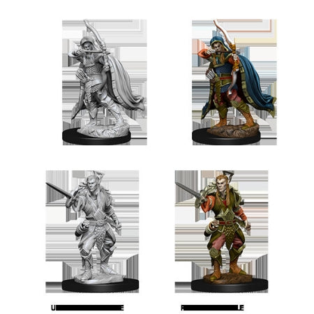 DUNGEONS AND DRAGONS: NOLZUR'S MARVELOUS UNPAINTED MINIATURES - MALE ELF ROGUE