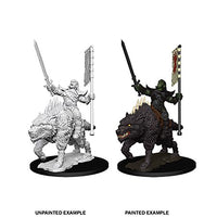 PATHFINDER: DEEP CUTS UNPAINTED MINIATURES - ORC ON DIRE WOLF