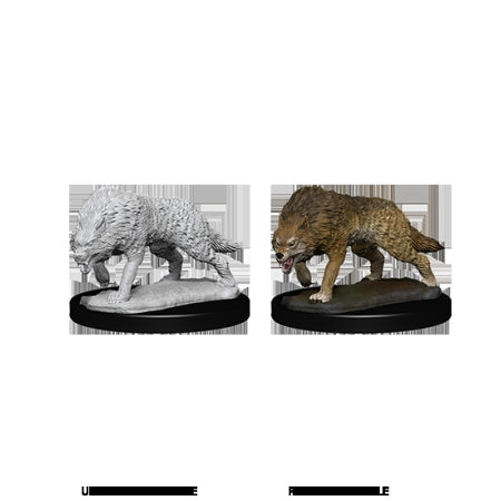 DEEP CUTS UNPAINTED MINIATURES - TIMBER WOLVES