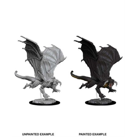 DUNGEONS AND DRAGONS: NOLZUR'S MARVELOUS UNPAINTED MINIATURES - YOUNG BLACK DRAGON