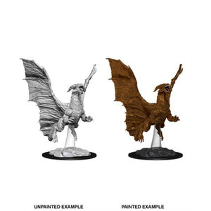 DUNGEONS AND DRAGONS: NOLZUR'S MARVELOUS UNPAINTED MINIATURES - YOUNG COPPER DRAGON