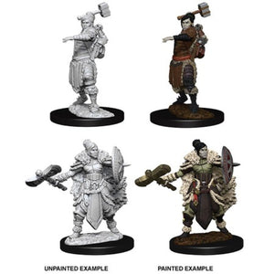 DUNGEONS AND DRAGONS: NOLZUR'S MARVELOUS UNPAINTED MINIATURES - FEMALE HALF-ORC BARBARIAN