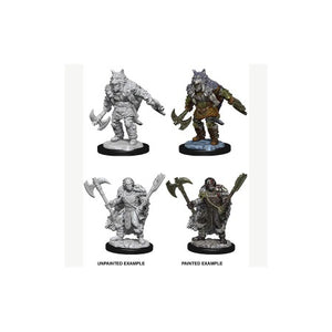 DUNGEONS AND DRAGONS: NOLZUR'S MARVELOUS UNPAINTED MINIATURES - MALE HALF-ORC BARBARIAN