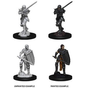 DUNGEONS AND DRAGONS: NOLZUR'S MARVELOUS UNPAINTED MINIATURES - FEMALE HUMAN FIGHTER